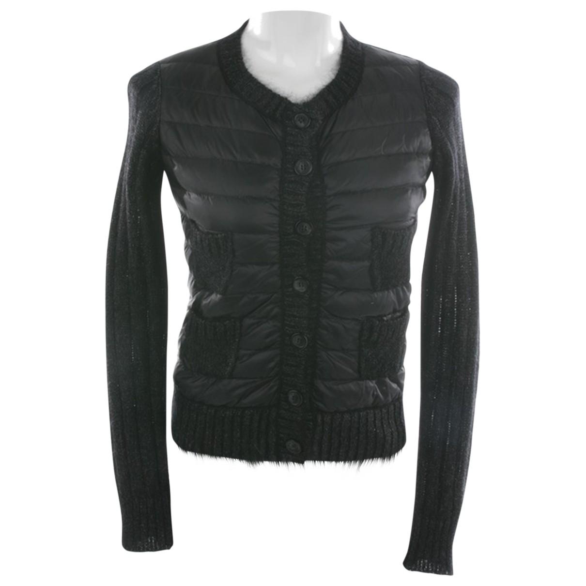Moncler \N Pullover in  Schwarz Leder