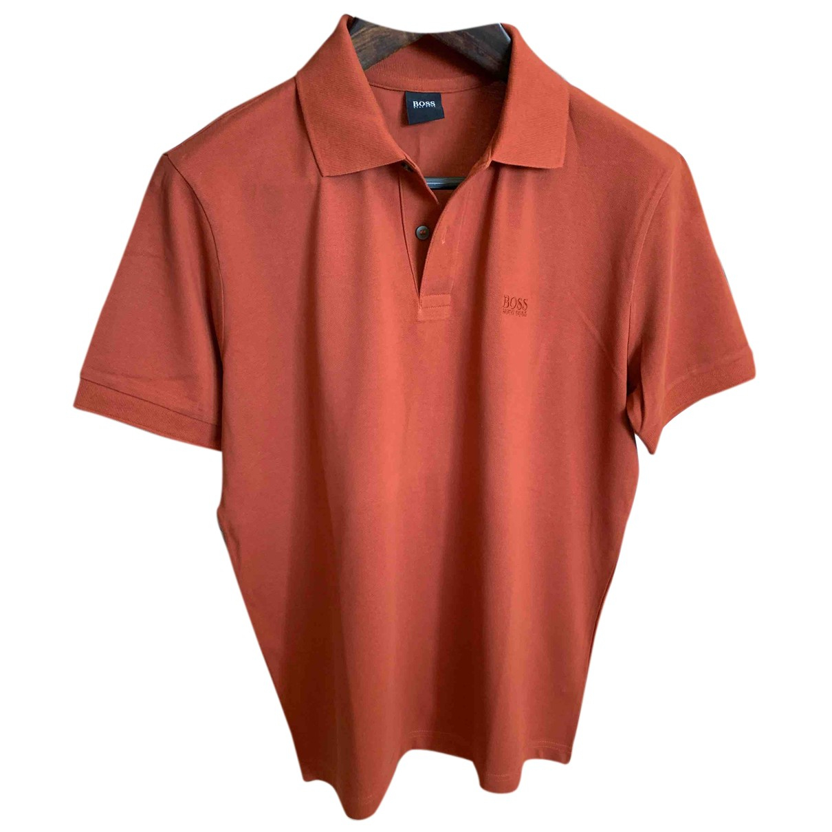 Hugo Boss \N Poloshirts in  Orange Baumwolle