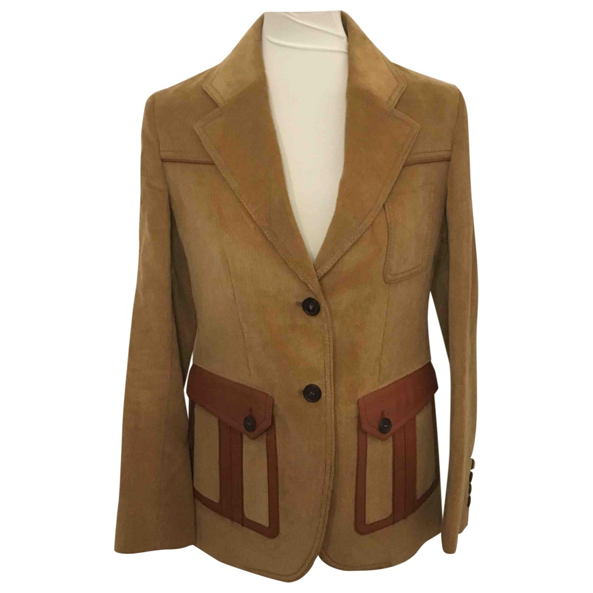Prada - Veste   pour femme en velours - marron