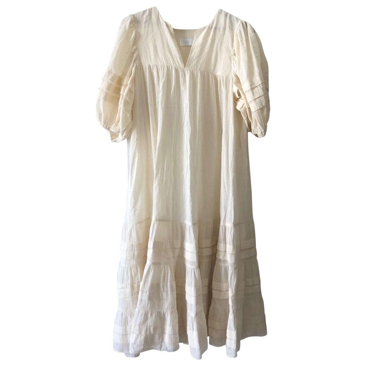 Zimmermann \N Beige Linen dress for Women 12 UK