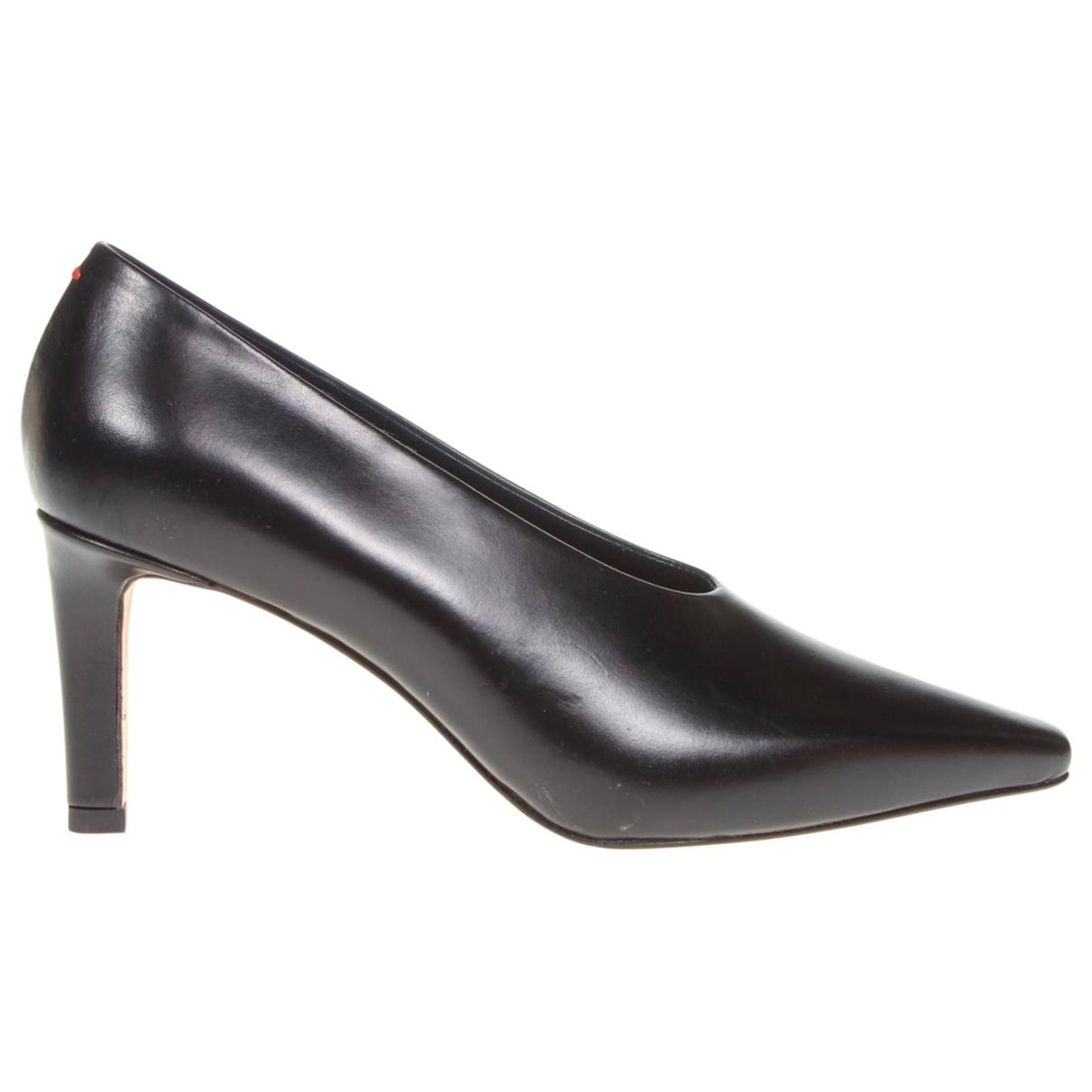 Aeyde \N Black Leather Heels for Women 37.5 EU