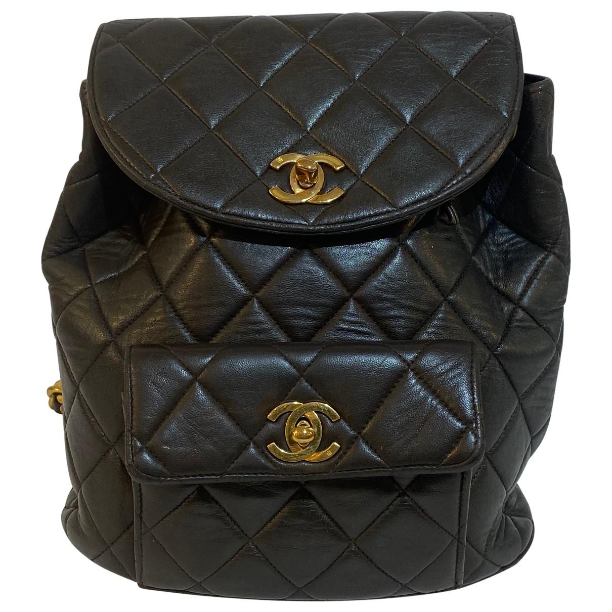 Chanel - Sac a dos Duma pour femme en cuir - marron