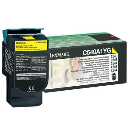 Lexmark C540A1YG cartouche de toner du programme retour originale jaune