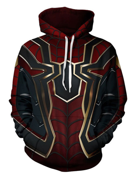 Milanoo 2020 Marvel Comics Avengers 3 Spider Man Halloween Cosplay Hoodie