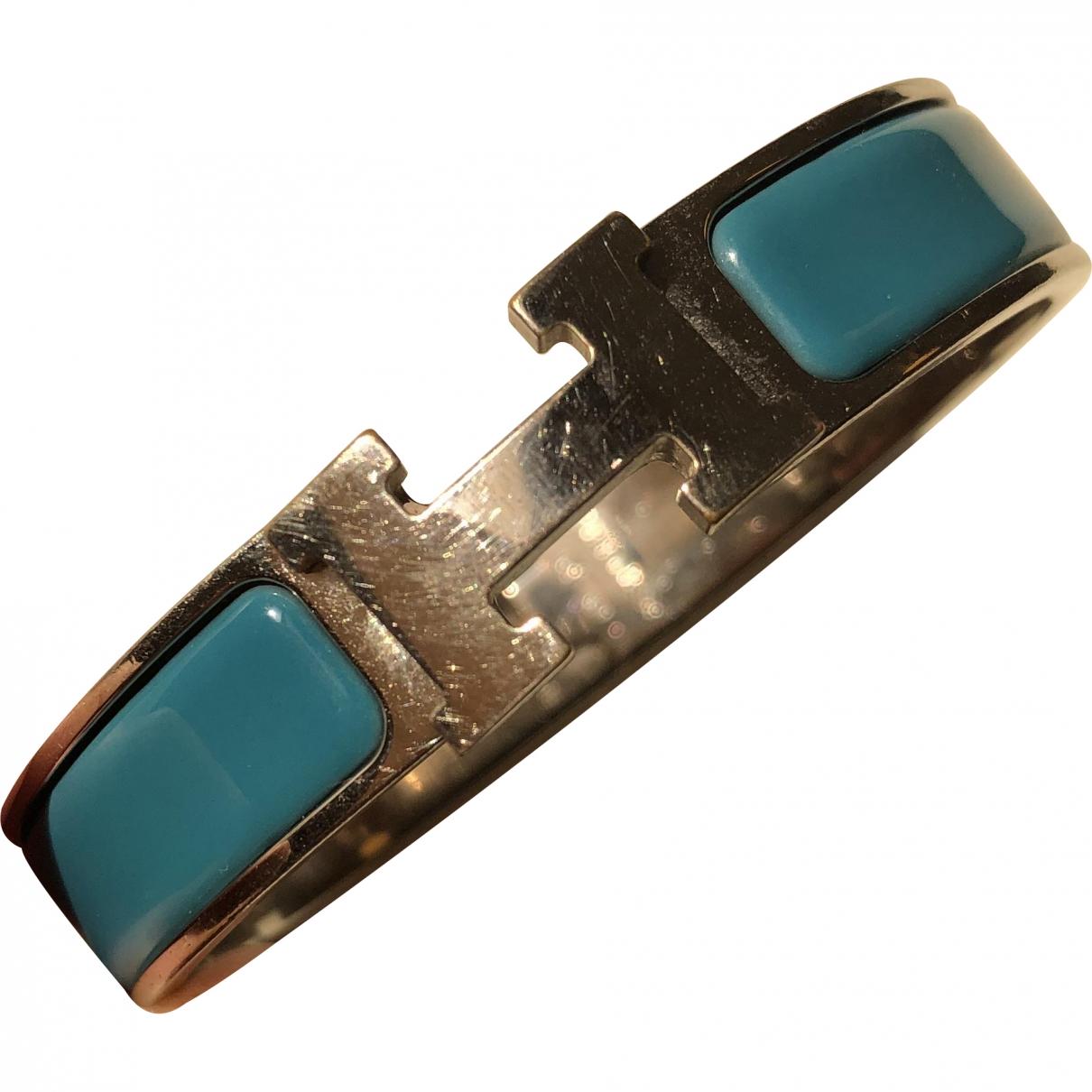 Hermes - Bracelet Clic H pour femme en acier - turquoise