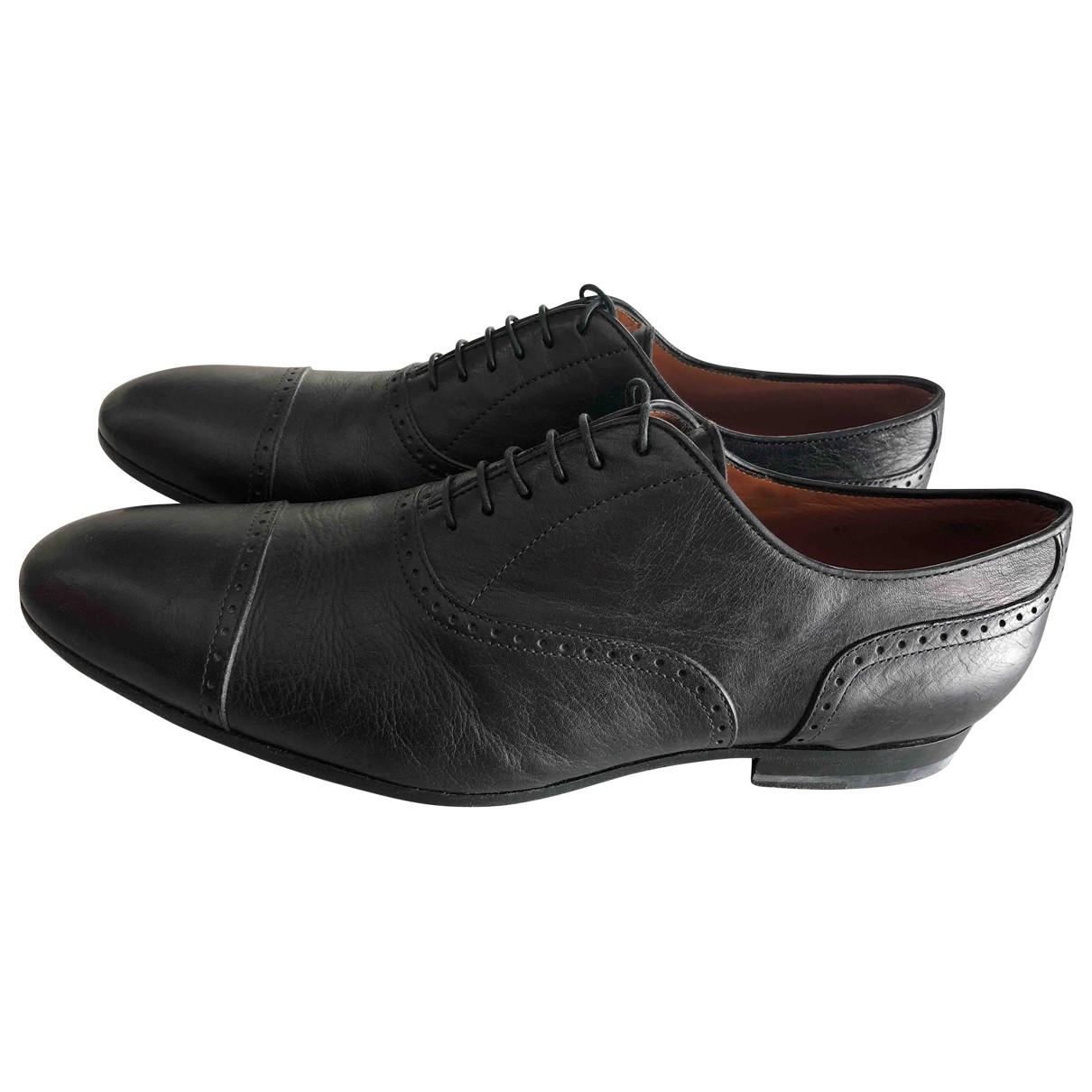 Etro \N Black Leather Lace ups for Men 45 EU