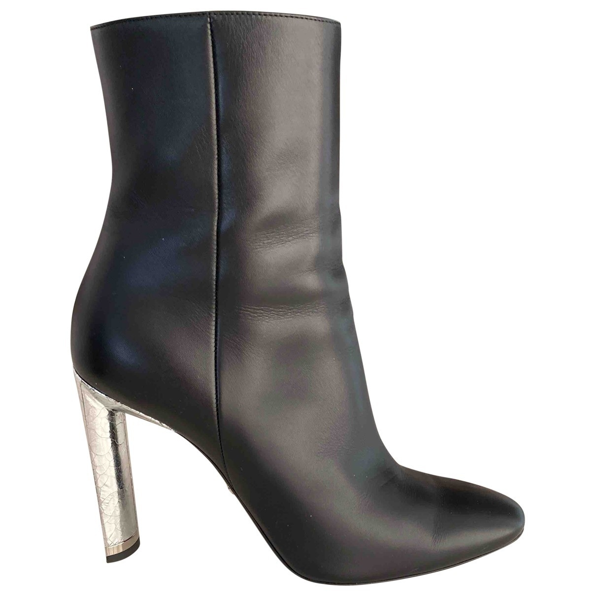 Christian Dior \N Black Leather Ankle boots for Women 39 EU