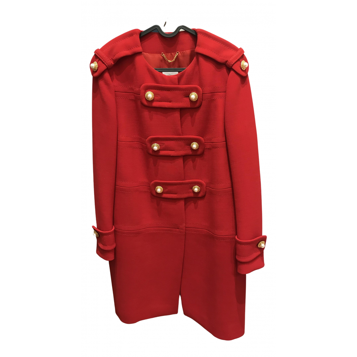 Moschino N Red Wool coat for Women 40 FR