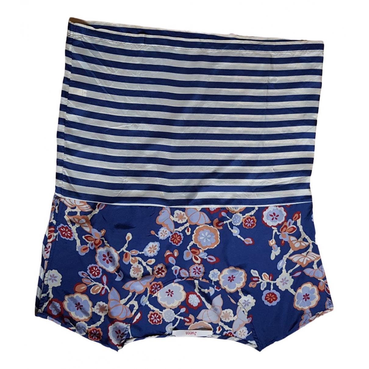 Jucca N Blue Silk  top for Women 42 IT