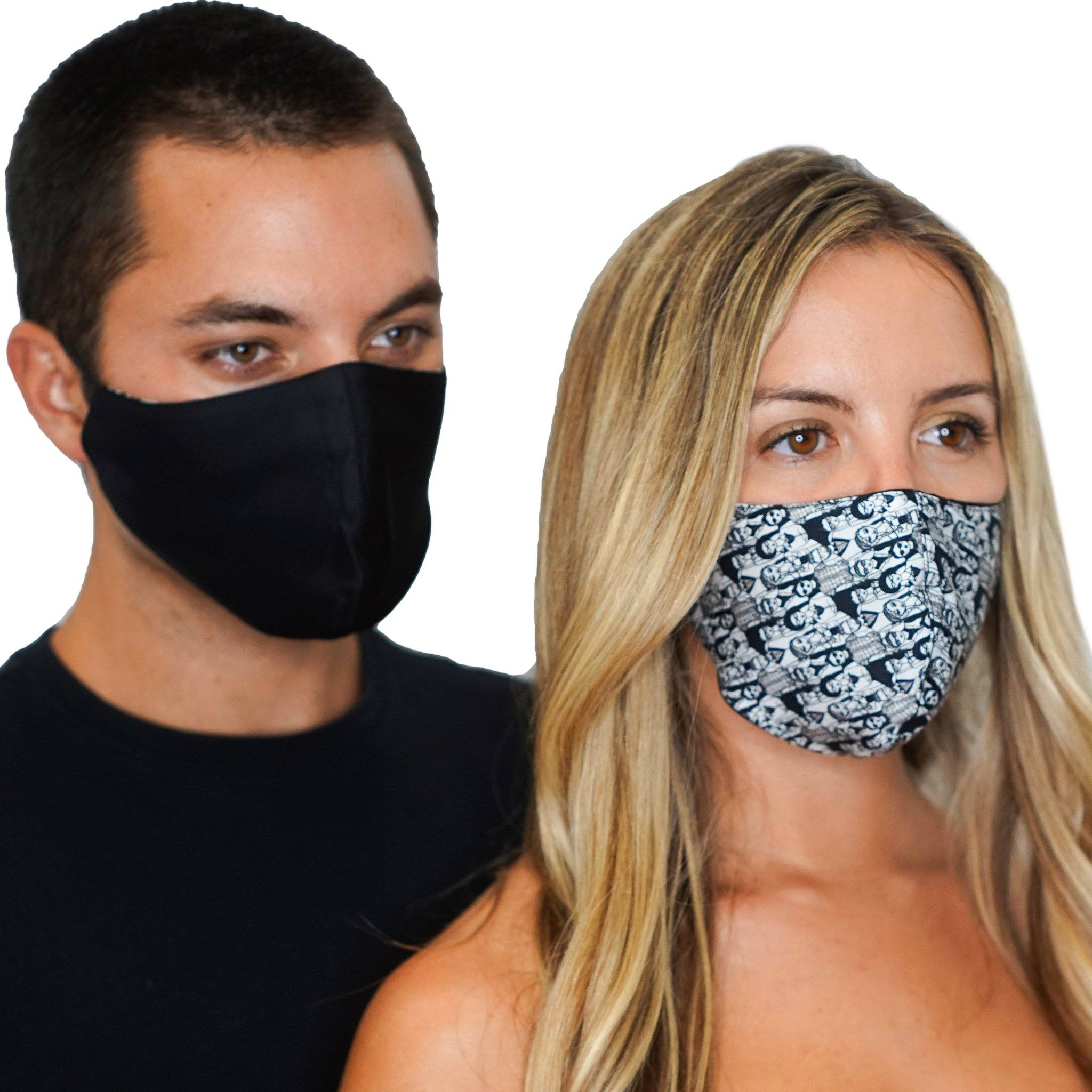 2 Reversible Face Masks United