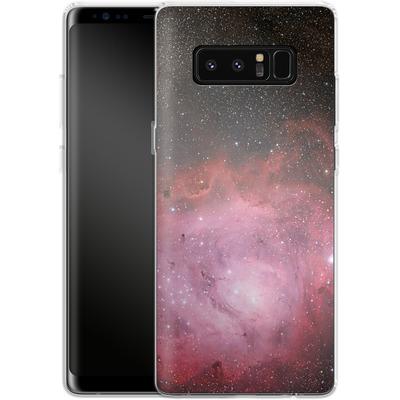 Samsung Galaxy Note 8 Silikon Handyhuelle - Pink Nebula von caseable Designs