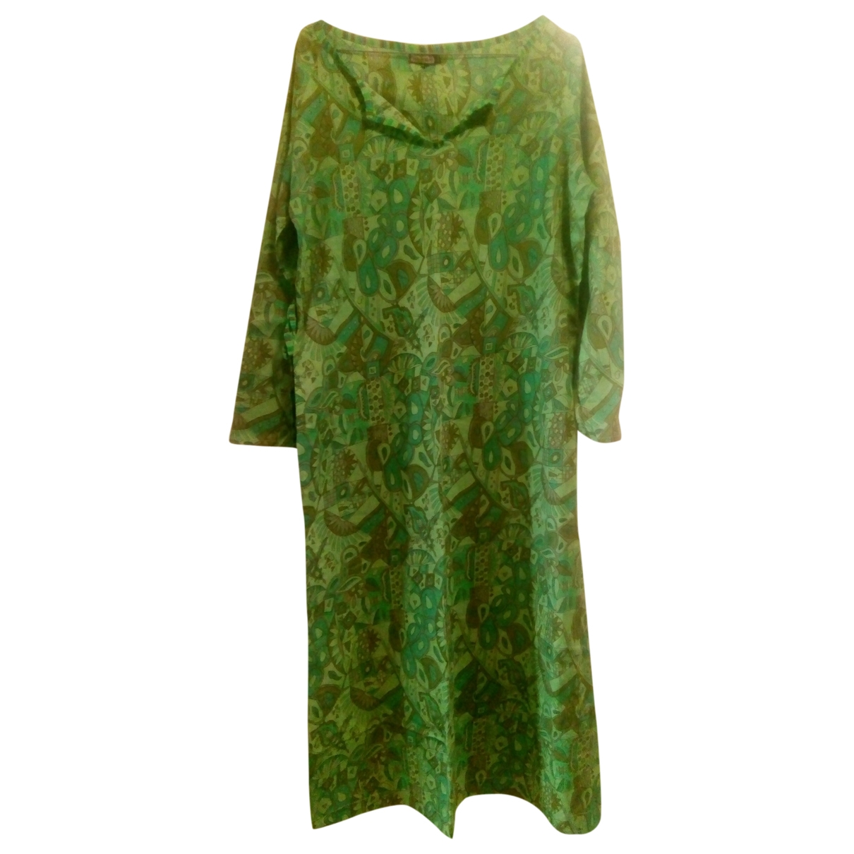 Maliparmi \N Green Cotton dress for Women 46 IT