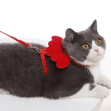 1pc Adjustable Cat Leash With 1pc Harness