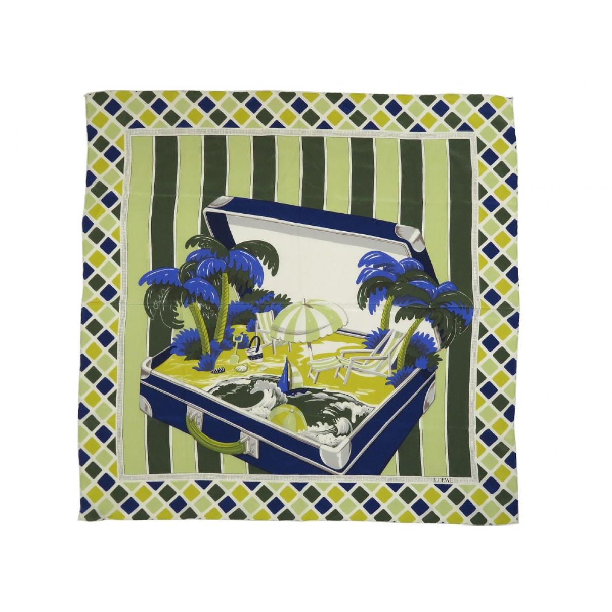 Loewe \N Green Silk scarf for Women \N