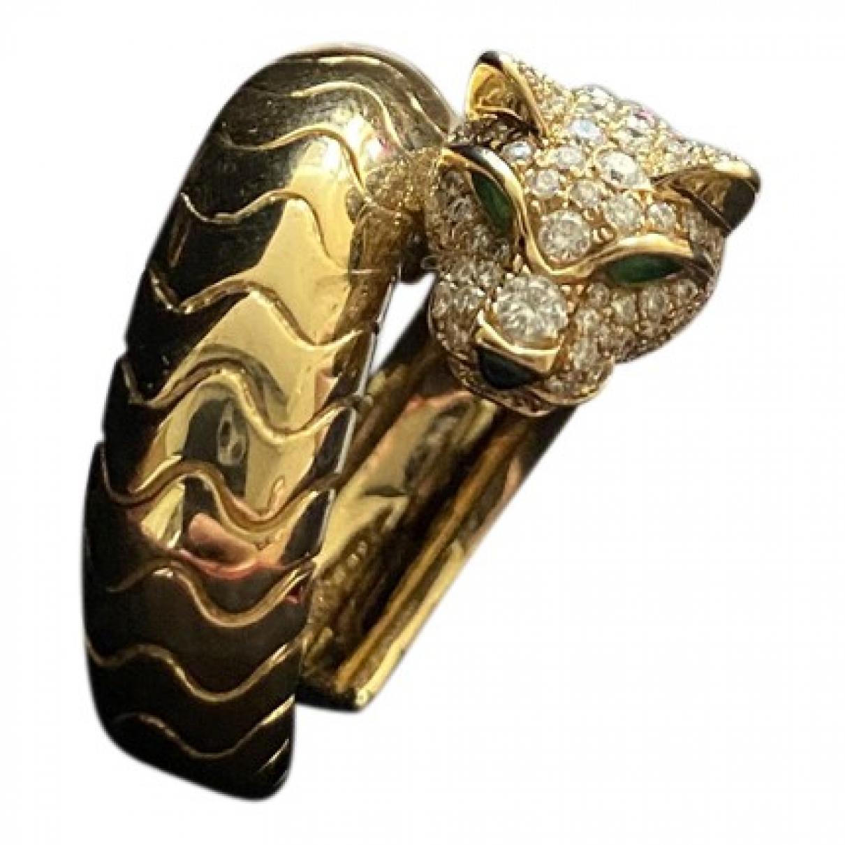 Cartier - Bague Panthere pour femme en or jaune - dore