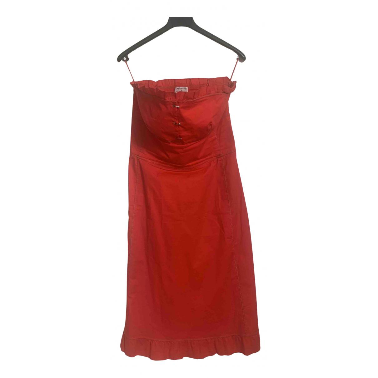 Philosophy Di Alberta Ferretti - Robe   pour femme en coton - rouge