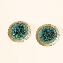 Lace Crystal Decor Earrings