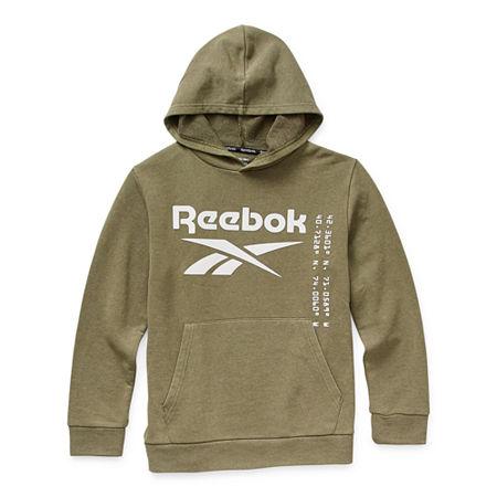 Reebok Big Boys Hoodie, Small (8) , Green