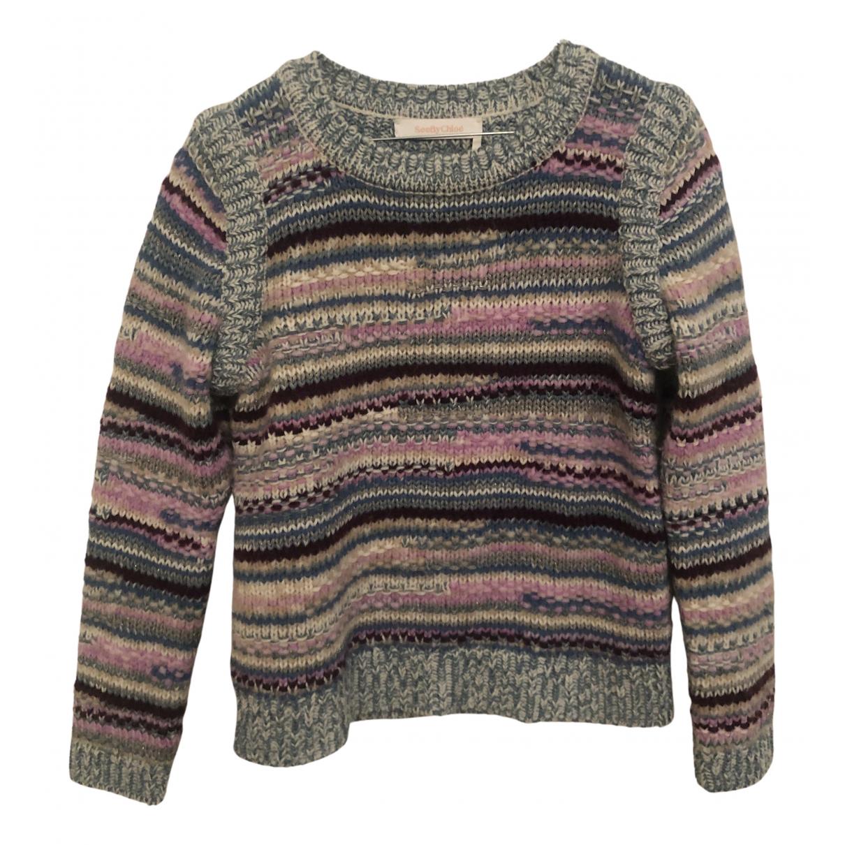 See By Chloe - Pull   pour femme en laine - multicolore