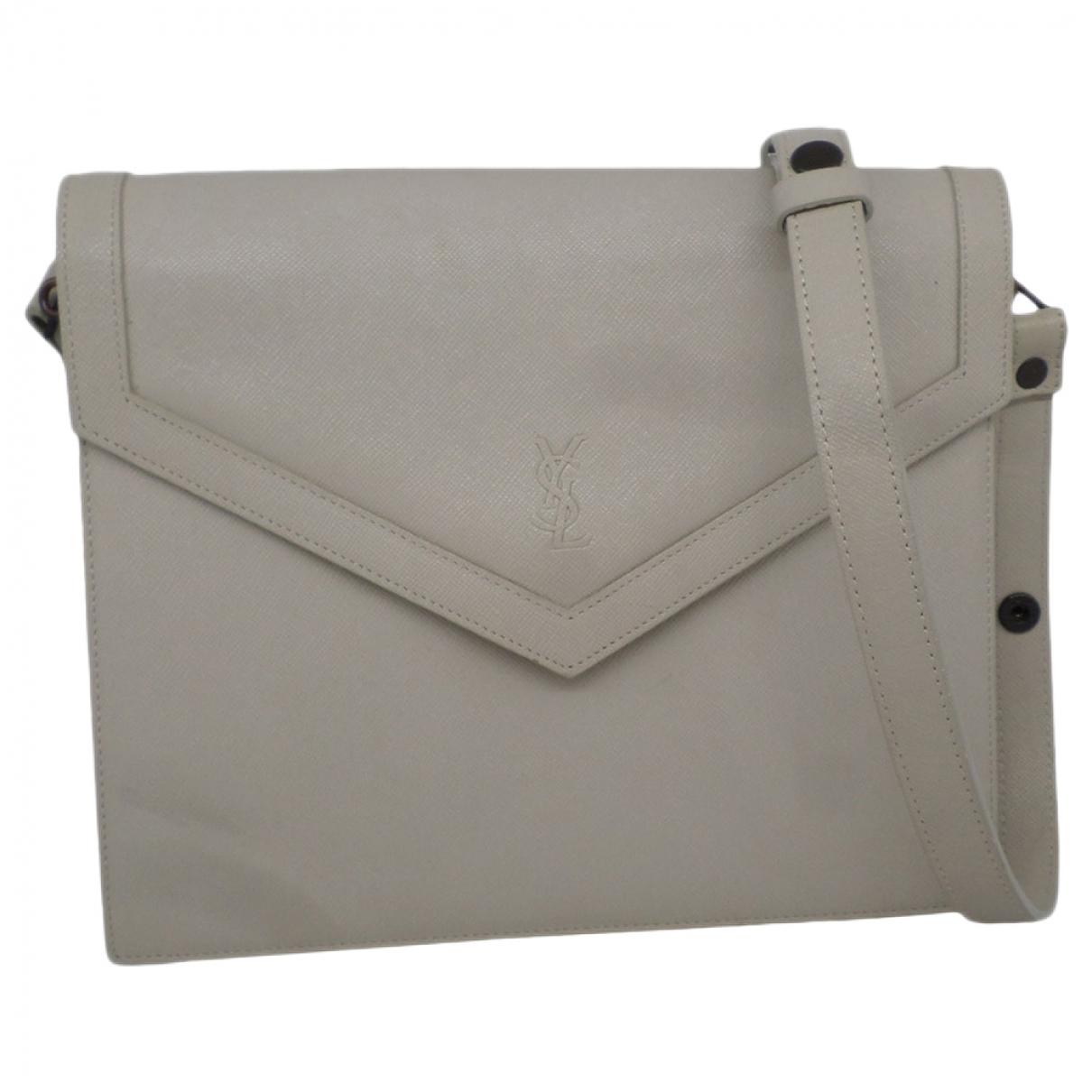 Yves Saint Laurent \N Handtasche in  Grau Leder