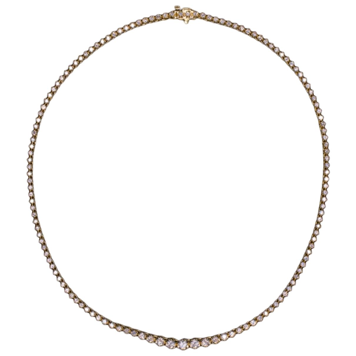 - Collier Tennis pour femme en or jaune - blanc