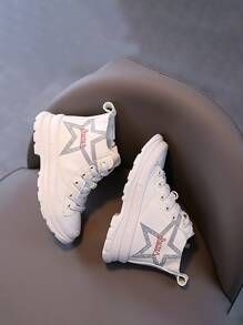 Girls Letter Graphic Boots