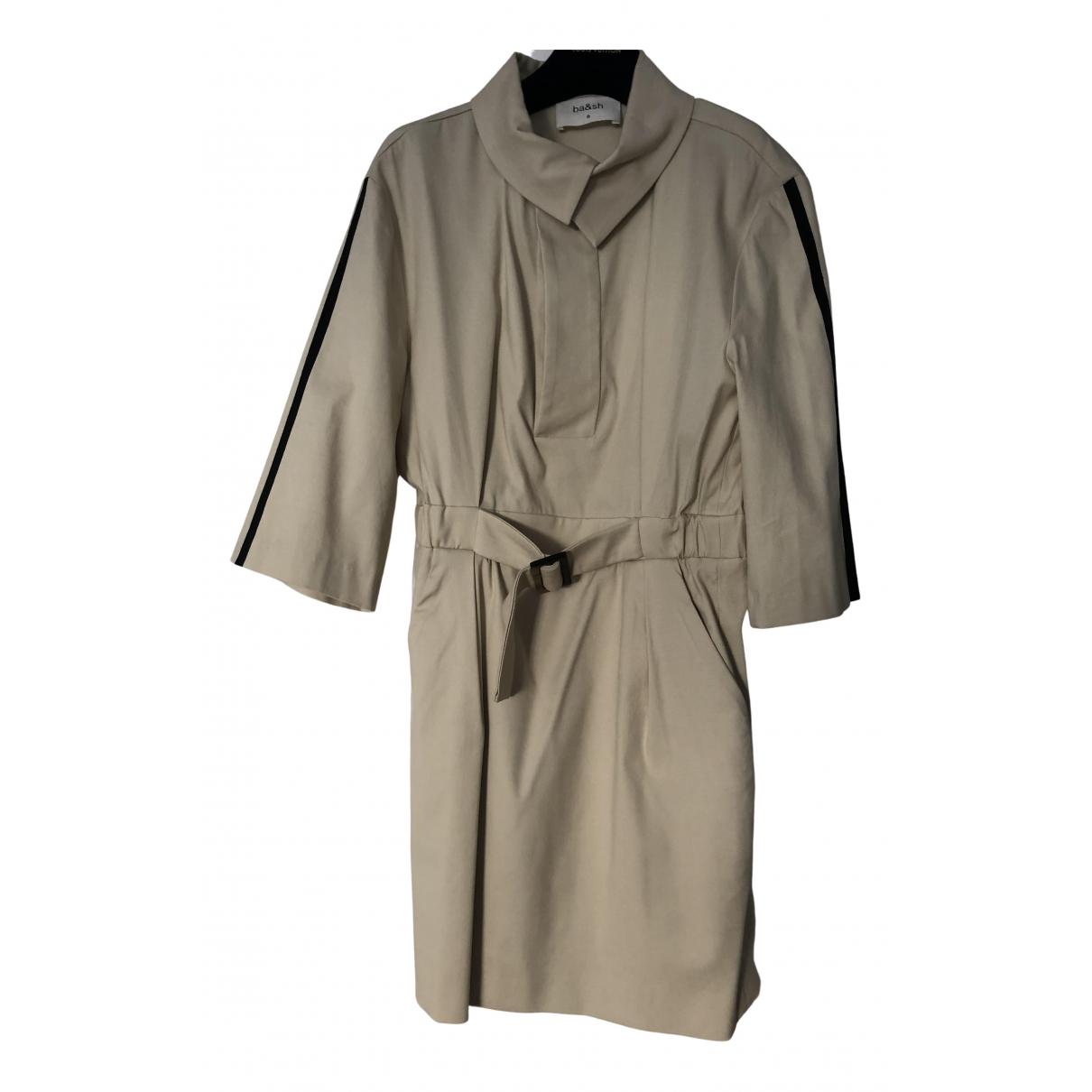 Ba&sh Fall Winter 2019 Kleid in  Beige Baumwolle