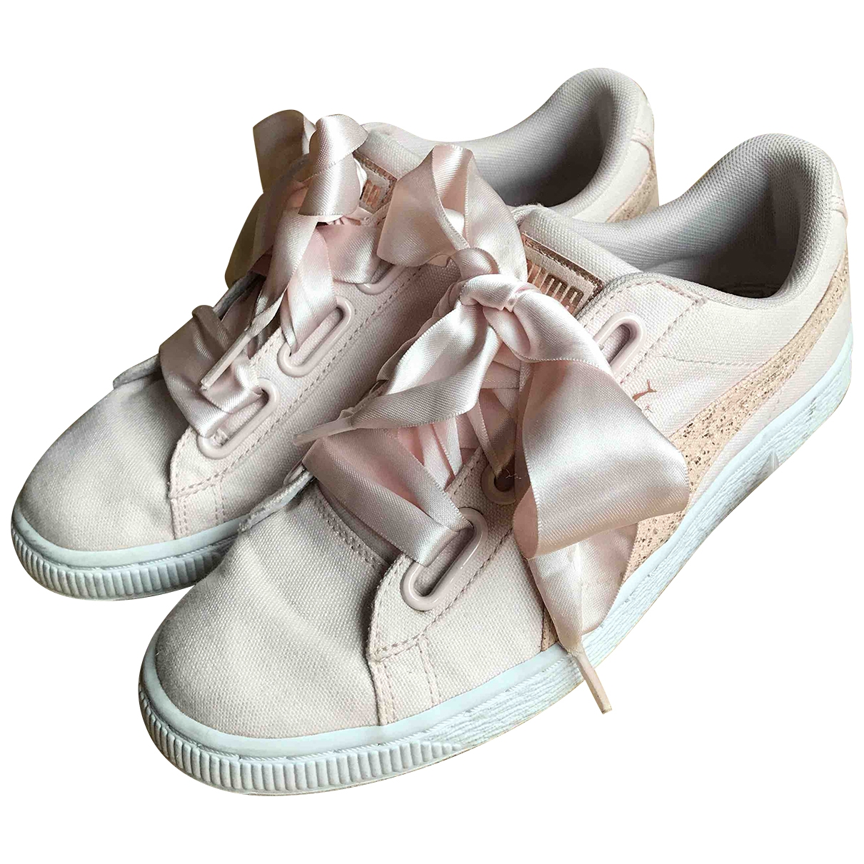 Puma \N Pink Cloth Trainers for Women 38 IT
