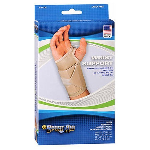 Sportaid Wrist Brace For Carpal Tunnel Beige Right Large 1 each by Sport Aid