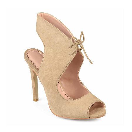 Journee Collection Womens Indigo Pumps Stiletto Heel, 11 Medium, Beige