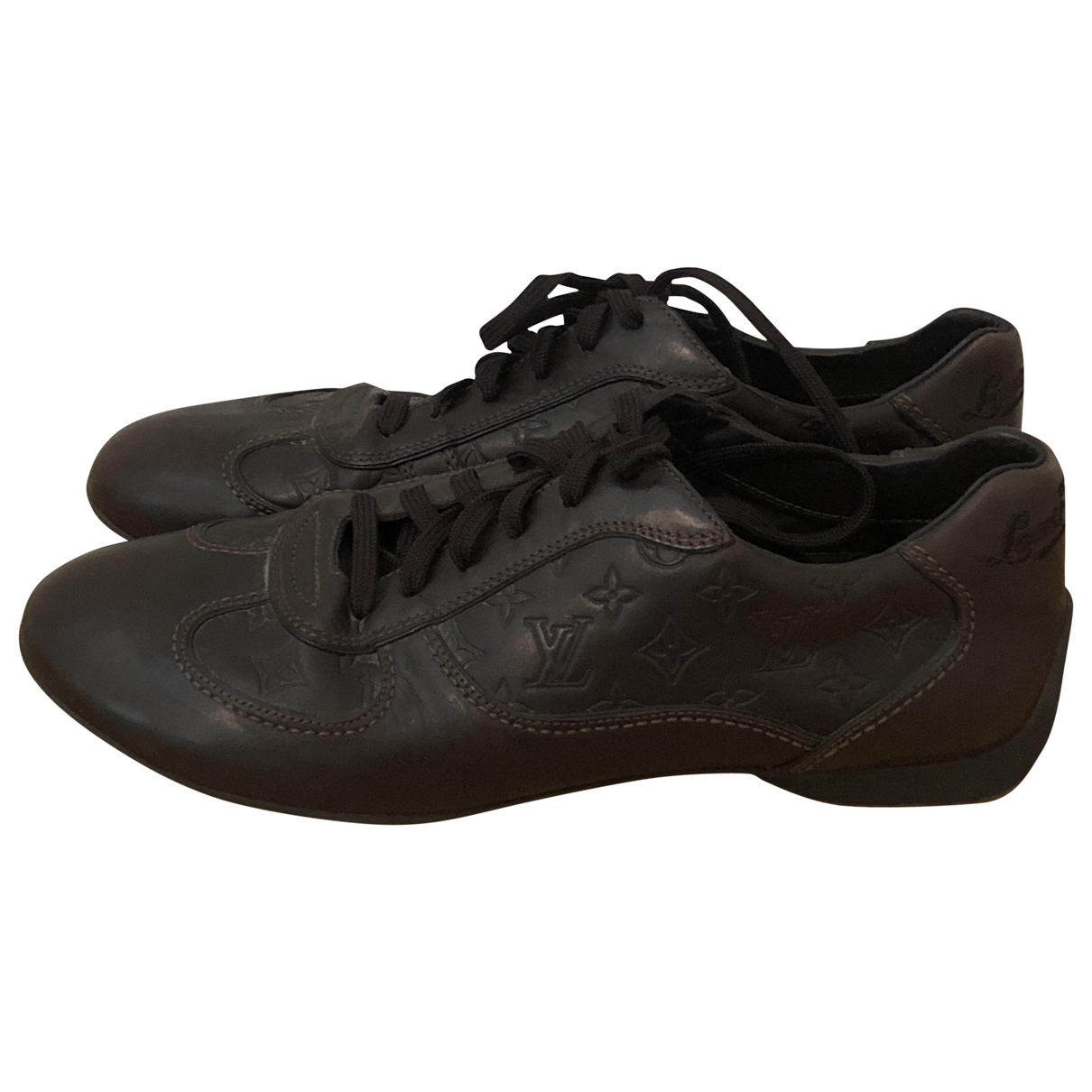 Louis Vuitton \N Brown Leather Trainers for Men 7.5 UK