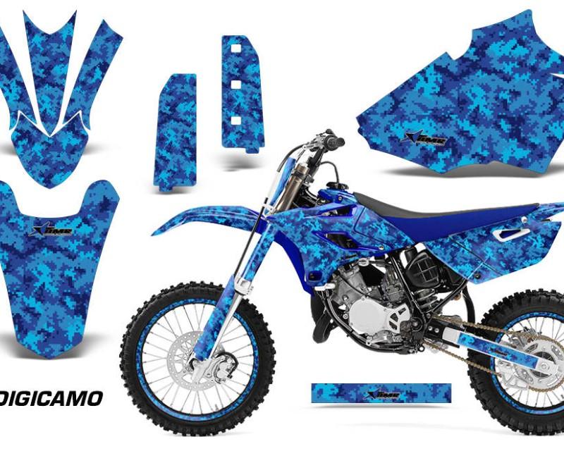 AMR Racing Graphics MX-NP-YAM-YZ85-15-18-DC U Kit Decal Sticker Wrap + # Plates For Yamaha YZ85 2015-2018áDIGICAMO BLUE