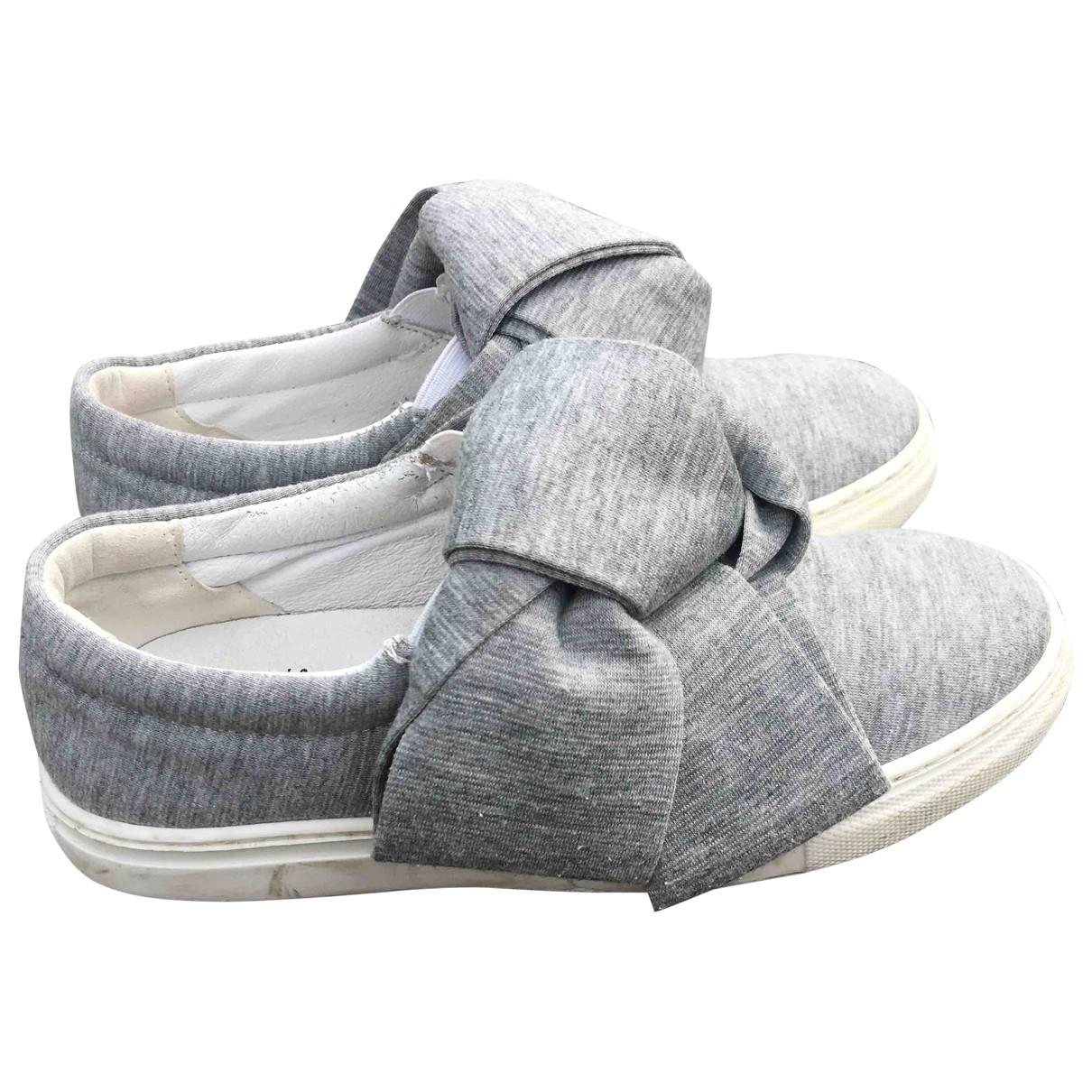 Joshua Sanders - Baskets   pour enfant en cuir - gris