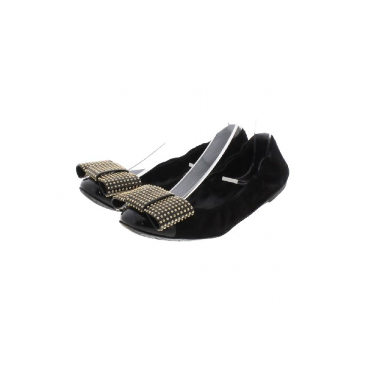 Louis Vuitton \N Black Suede Ballet flats for Women 35.5 EU