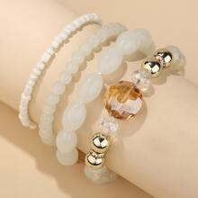 4pcs Bohemian Beaded Bracelet