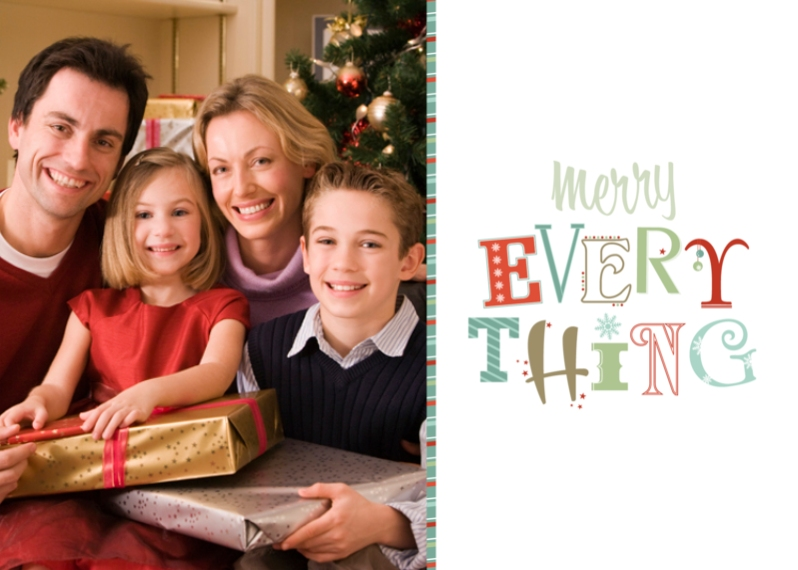Christmas Photo Cards Mail-for-Me Premium 5x7 Folded Card , Card & Stationery -Merry Everything