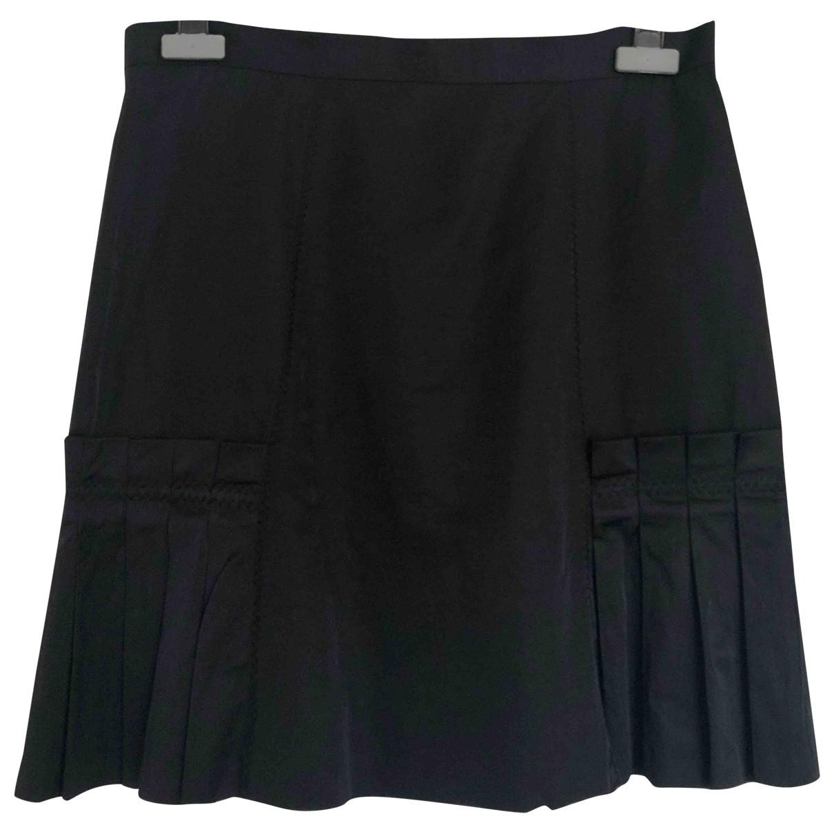 Sand \N Black Cotton skirt for Women 38 FR