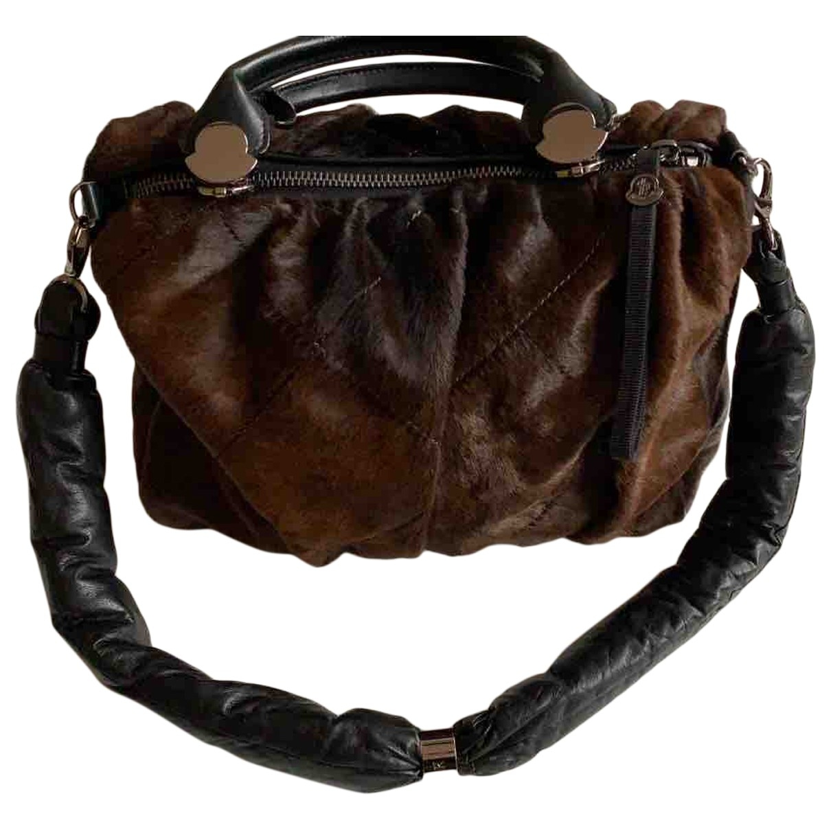 Moncler \N Brown Leather handbag for Women \N