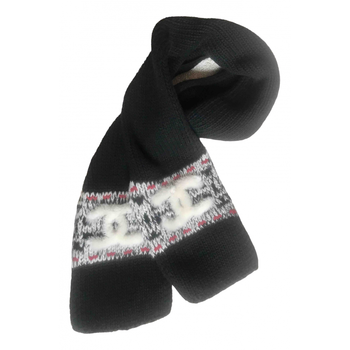 Chanel - Foulard   pour femme en laine - noir