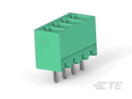 TE Connectivity 3.5mm Pitch, 12 Way PCB Terminal Block, Green (250)