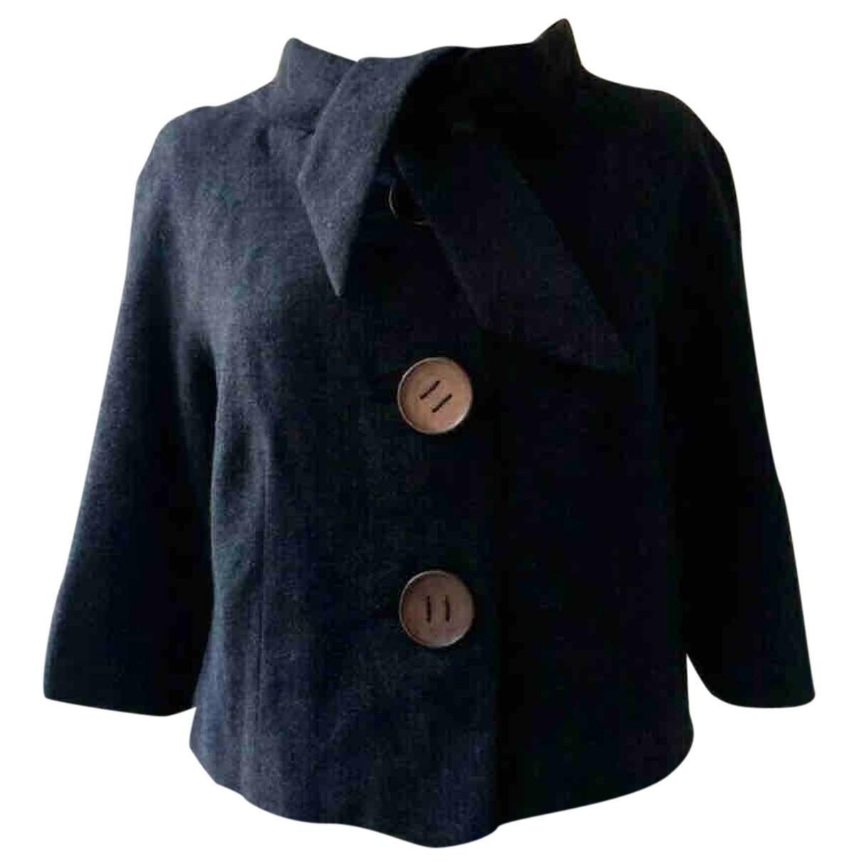 Hache - Veste   pour femme en laine - noir