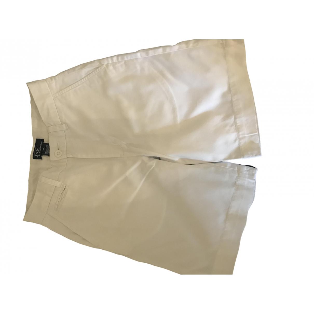 Polo Ralph Lauren - Pantalon   pour enfant en denim - blanc