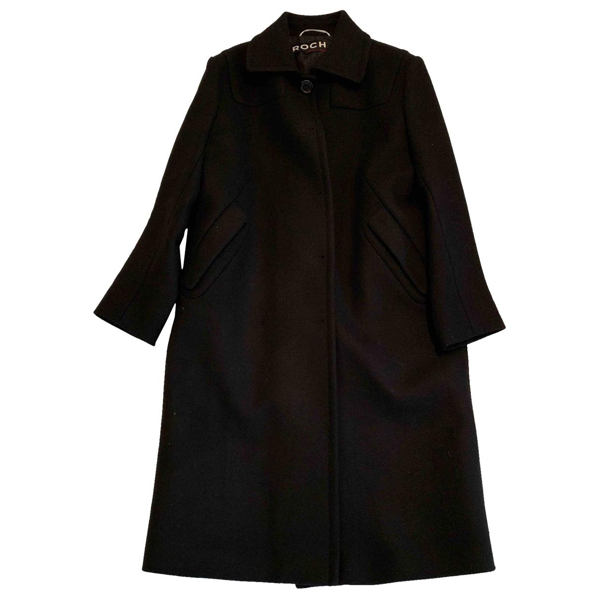 Rochas \N Black Wool coat for Women 44 IT