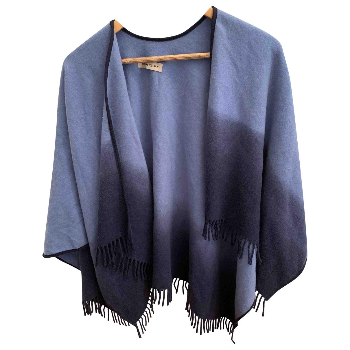 Burberry - Veste   pour femme en cachemire - bleu