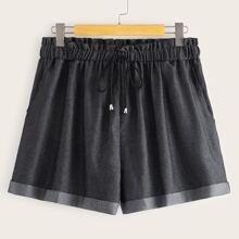 Shorts con bolsillo lateral de cintura con cordon - grande