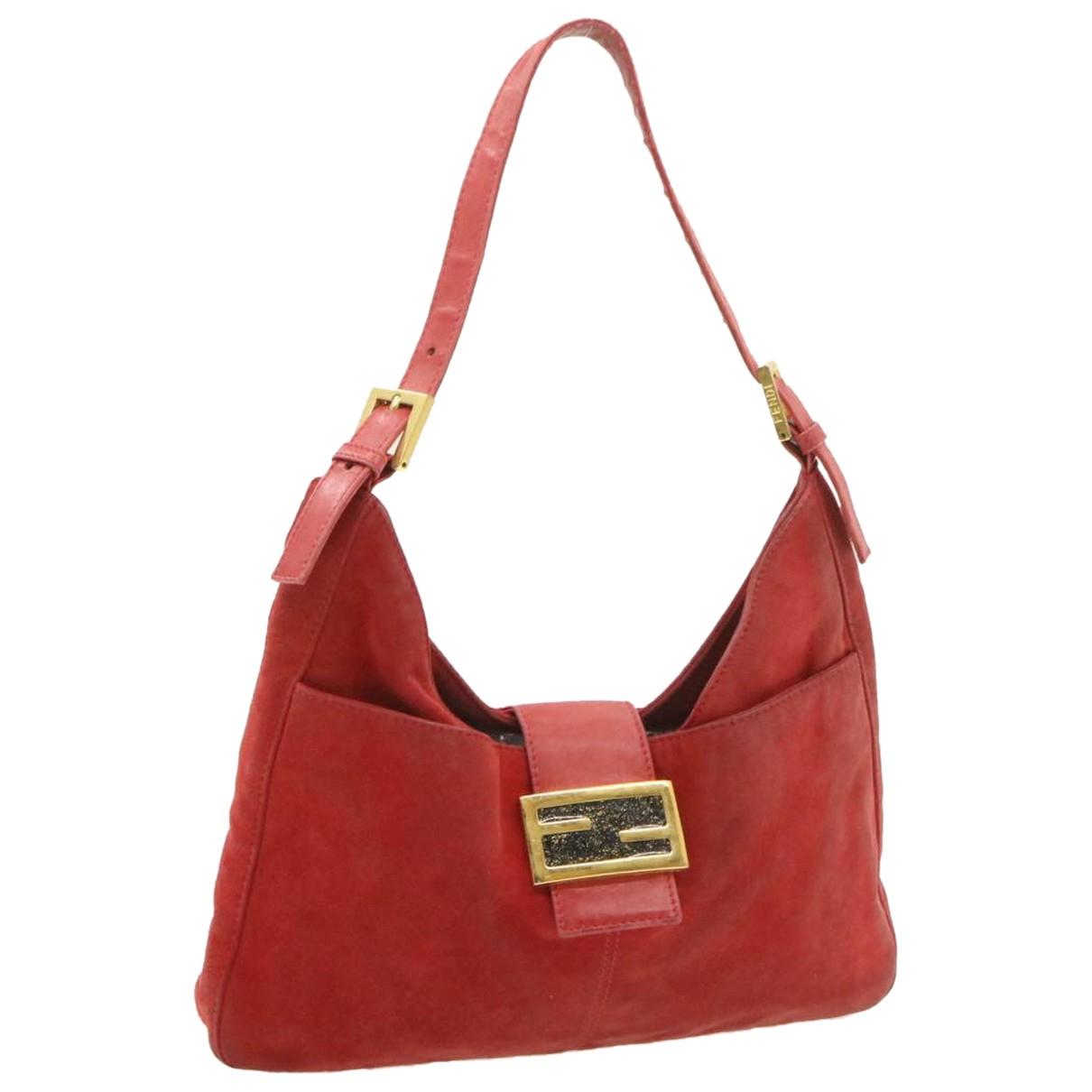 Fendi N Red Suede handbag for Women N