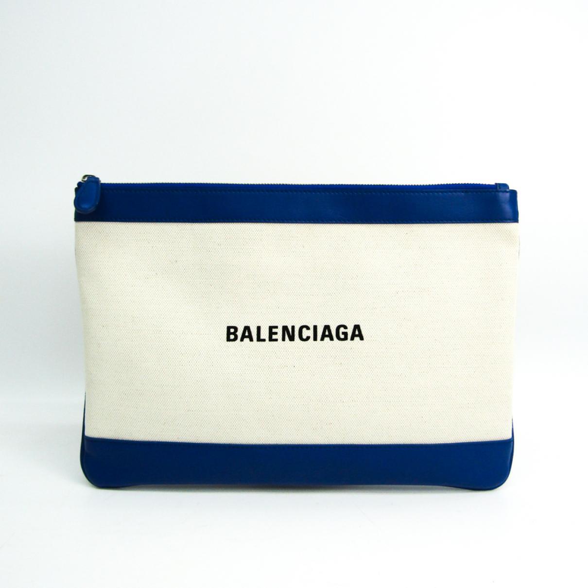 Balenciaga N Blue Leather Clutch bag for Women N