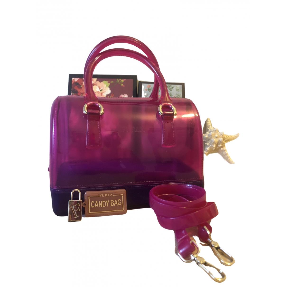 Furla Candy Bag Handtasche in  Rosa Kunststoff