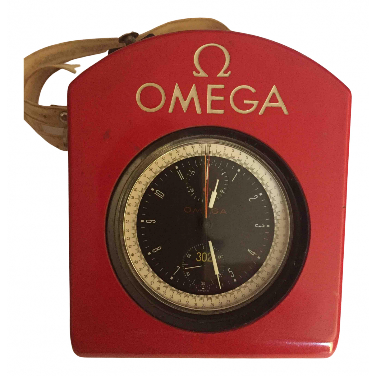 Omega \N Silver Steel watch for Men \N