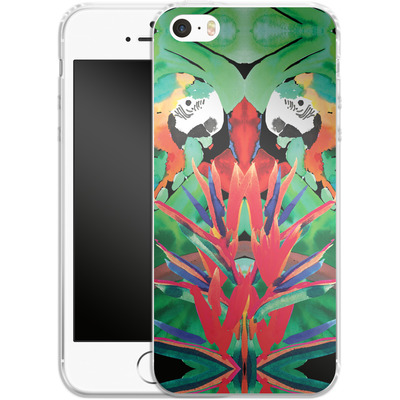 Apple iPhone SE Silikon Handyhuelle - Parrot von Amy Sia